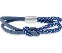 Herrenarmband Edelstahl blau