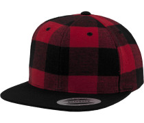 Snapback 'Checked Flanell' rot / schwarz