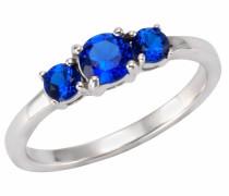 Silberring dunkelblau / silber