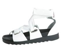Offene Leder Sandalen weiß