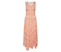 Kleid 'Bastily' orangerot / weiß