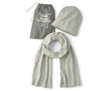 Mütze und Schal grau