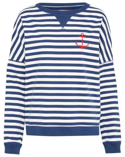 Sweatshirt 'Marge' navy / weiß