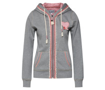 Pullover 'Doda Sweater' grau / rosa