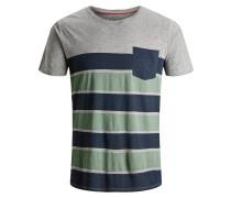T-Shirt nachtblau / grau / mint