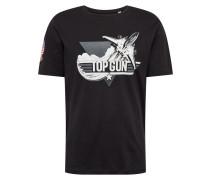 Shirt 'Pittsburg' schwarz / weiß