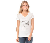 T-Shirt 'By The Sea' grau / weiß