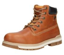 Boots beige / cognac / schwarz