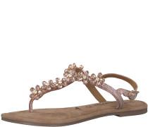 Zehentrenner Sandale 'Glitter Flower' rosé