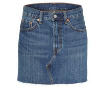 'deconstructed' Jeans Rock blue denim