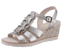 Sandalette hellbeige / silber