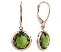 Ohrhänger rosegold / grün