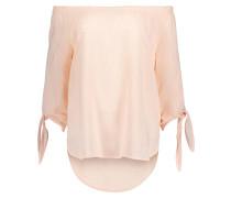 Bluse mit schulterfreiem Design rosé