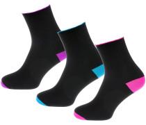 Socken neonblau / lila / pink / schwarz