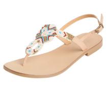 Sandalen aqua / hellbraun / weiß