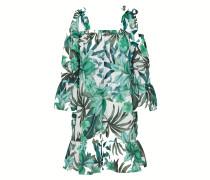 Kleid 'Jangala' grün / weiß