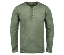 Rundhalsshirt 'Timur' grün / grünmeliert
