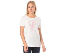 T-Shirt 'GiosefinaM.' pink / weiß