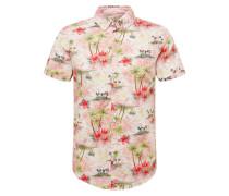 Hemd hellgrün / rosa / weiß