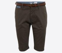 Chino Shorts 'solid Jim' dunkelbraun