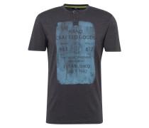 T-Shirt mit Print taubenblau / hellblau
