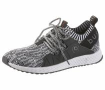 Sneaker grau / schwarz / weiß