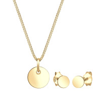 Schmuckset 'Kreis' gold