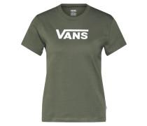 T-Shirt khaki / weiß