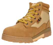 Boots 'Grunge mid' sand / goldgelb
