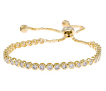 Armschmuck: Armband mit Zirkonia gold