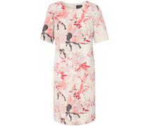 Kleid koralle / cranberry / schwarz / weiß