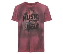 T-Shirt 'lopowa T/s' rot / schwarz