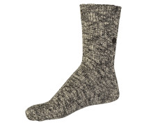 Fashion Slub Socken grau / schwarz