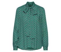 Bluse 'erin' smaragd / fuchsia