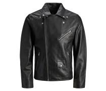 Jacke schwarz / silber / weiß
