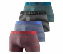 Bodywear Boxer (4 Stück) mit kontrastfarbenem Webbund
