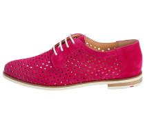 Schnürschuhe mit Lochung pink