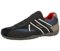 Sneaker blau / schwarz / beige
