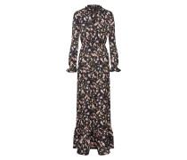 Kleid 'Floral' braun / schwarz