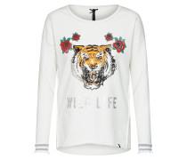 Sweatshirt mischfarben / offwhite