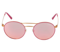 Sonnenbrille gold / pink