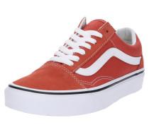 Sneakers 'Old Skool' orangerot / weiß