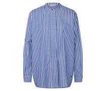 Bluse 'Indie Shirt' blau / weiß