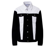 Jacke black denim / white denim