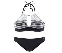 Bustier-Bikini schwarz / weiß