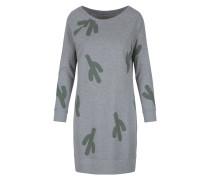 Kleid graumeliert / grasgrün