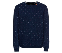 Sweatshirt 'Ams Blauw indigo sweat with allover prints'