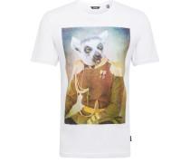 Shirt 'burney' mischfarben / weiß