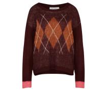 Pullover camel / pink / burgunder