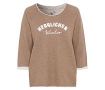 Sweatshirt 'Benice' hellbraun / weiß